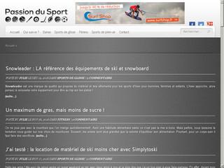 Passion du bon sport en blog