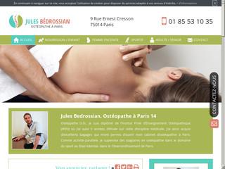 Ostéopathe D.O à Paris, Jules Bédrossian