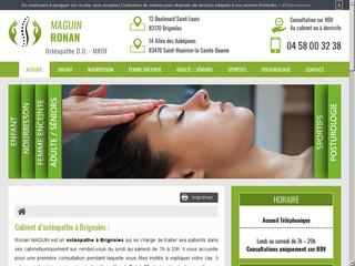 Des services d'ostéopathe à Brignoles