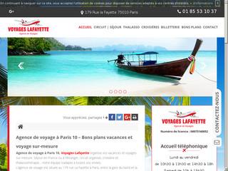 Agence de voyage à Paris Gard de l'Est, Voyages Lafayette