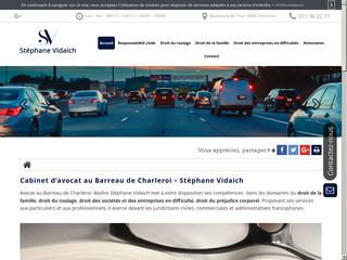 Avoact Stéphane Vidaich au Barreau de Charleroi en Belgique