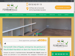 Entreprise de peinture à Neufchâtel-Hardelot, Ferrantelli Côte d'Opale