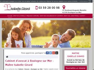 Avocat pour boulogne sur mer (62), Maître Isabelle Girard
