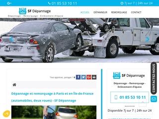 Dépannage et remorquage à Paris et en Ile de France, SF Dépannage
