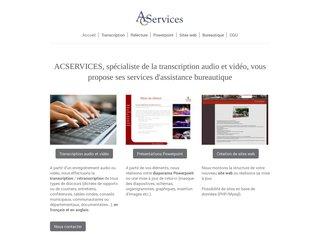 ACSERVICES secretariat transcription dactylographie