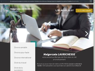 Avocat divorce, droit du travail - Malgorzata Laurichesse - Paris 14