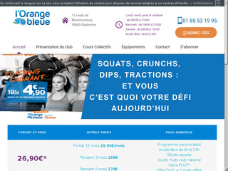 Club de sport et fitness à Eaubonne, L'Orange Bleue