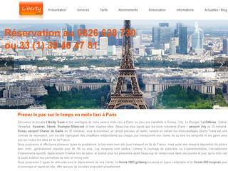 Liberty Trans chauffeur VTC Taxi moto Paris pas cher