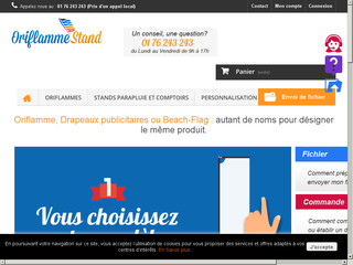 Oriflamme stand
