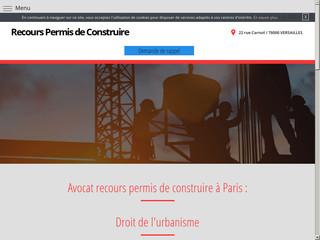 Avocat refus de permis de construire Paris