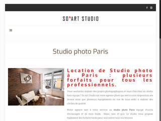 Studio photo à Paris