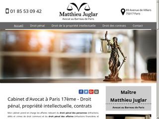 Cabinet d'avocat à Paris 17ème, Matthieu Juglar