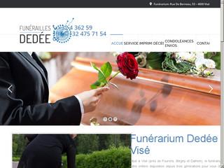 Pompes funèbres à Visé avec le funérarium Dedée