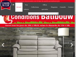 Univers du Cuir - fabricant Belge de canapés et de fauteuils à prix bas