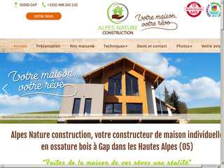 Construction : Alpes Nature Construction à Gap (05)