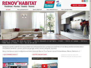 Menuiserie : Rénov Habitat à Vaux le Penil (77)