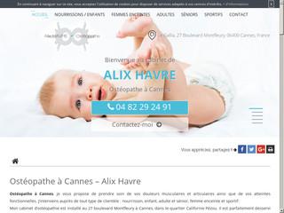 Cabinet d'ostéopathe Alix Havre à Cannes