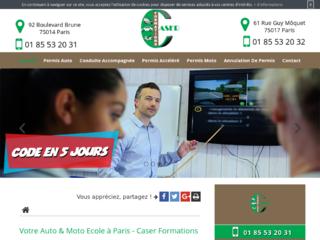 Caser formations: Votre Permis auto (B) à Paris