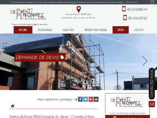 Travaux d'isolation à Liège, Lo Presti Plafonnage
