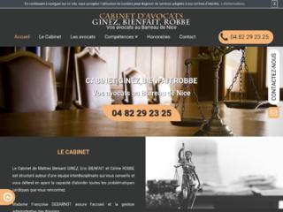 Cabinet d'avocats au barreau de Nice, Cabinet Ginez-Bienfait-Robbe