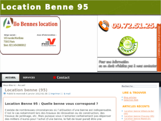 Service de location de benne 95
