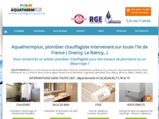 Plomberie : Aquathermplus à Drancy (93)