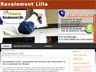 Entreprise de ravalement Lille