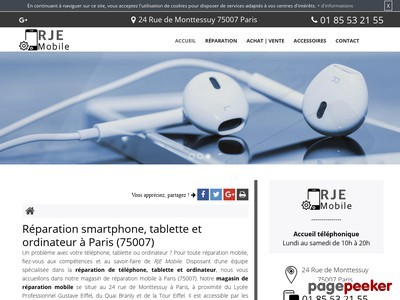 Réparation smartphone à Paris : RJE Mobile