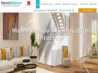 Memi Renov, travaux de rénovation maison et appartement à Paris