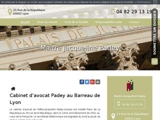 Avocat en droit du travail à Lyon, Maître Jacqueline Padey-Gourjux