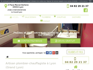 Artisan plombier-chauffagiste à Lyon