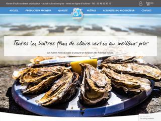 Vente en ligne d'huîtres, direct du producteur Joguet