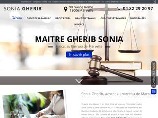 Avocat au barreau de Marseille, Sonia Gherib