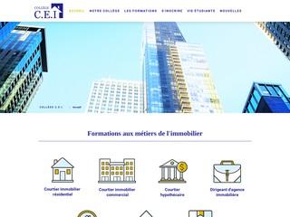 Collège CEI : formations en ligne aux métiers de l'immobilier