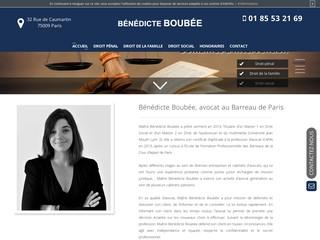 Avocat au Barreau de Paris : Maître Bénédicte Boubée