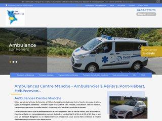 Transport ambulances à Périers, Montmartin-sur-Mer, Marigny...