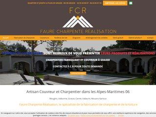 Charpente : F.C.R à Grasse (06)