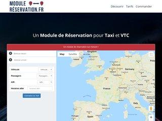 Module de réservation pour Taxi et VTC