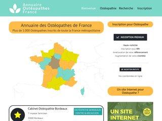 Annuaire des Ostéopathes France