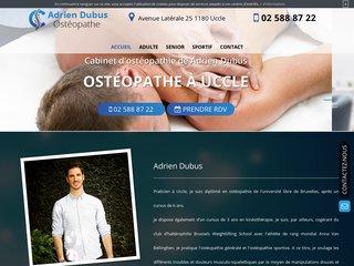 Ostéopathe et kinésithérapeute à Uccle, Adrien Dubus