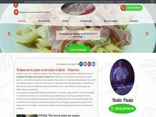 Restaurant de pâtes en livraison à Liévin :  Bella Pasta