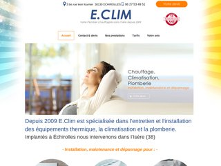 E.CLIM Plomberie Chauffage Climatisation Echirolles Isère