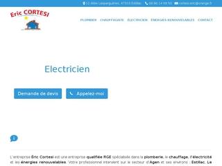 Éric Cortesi - Entreprise d'électricité, de plomberie, de chauffage et d'énergies renouvelables - Agen, Estillac, Le Passage