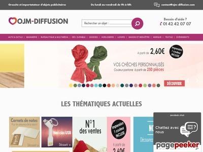 OJM Diffusion - Objets et textiles publicitaires à personnaliser avec un logo