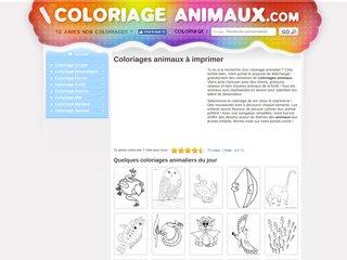 Coloriages en ligne avec des animaux
