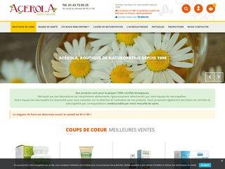 Acerola - Compléments alimentaires bio