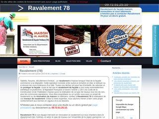 Entreprise de ravalement de façade dans les Yvelines