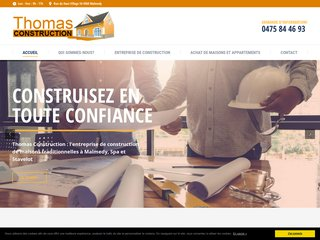 Thomas Construction : l'entreprise de construction à Spa