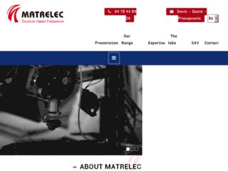 Matrelec fabrication de matériel pour la soudure