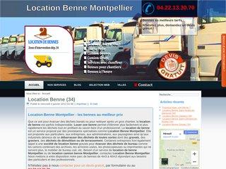 Location de benne à Montpellier